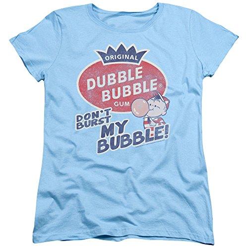 Trevco Dubble Bubble Burst Bubble Women's T Shirt, Small Light Blue