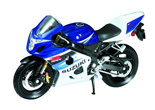 Welly Die Cast Motorcycle Blue Suzuki GSX-R750, 1:18 Scale