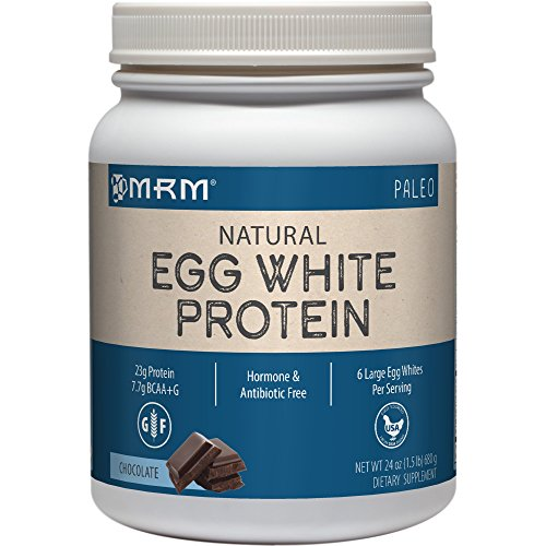MRM - Egg White Protein, Dairy-Free Protein Powder with Essential Amino Acids Dietary Supplement, Lean Muscle Strength & Recovery, No Fats or Carbs (Chocolate, 24 Ounces) (Best Egg Protein Powder)