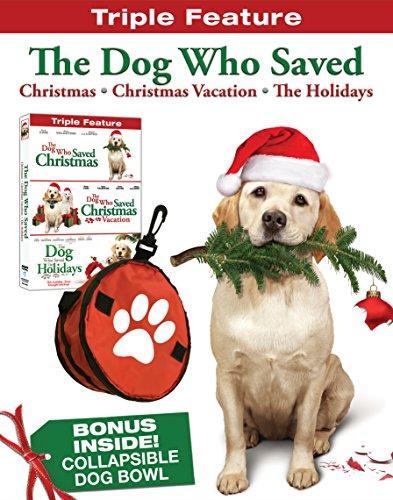 The Dog Who Saved Christmas Triple Feature w/ dog bowl