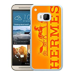 Unique HTC ONE M9 Case ,Hot Sale And Popular Designed Case With Hermes 25 White HTC ONE M9 Cover Phone Case