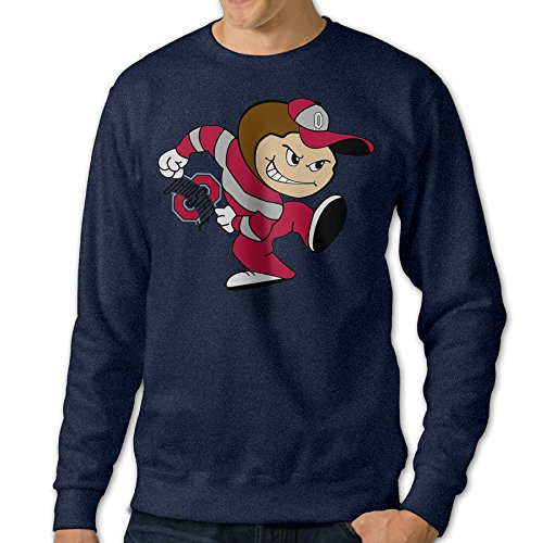 Cozyou Ohio State Logo Men Long Sleeve Crewneck Shirt Navy M - Ohio State Buckeyes Roster