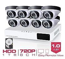 GOWE 8CH CCTV System 720P HDMI AHD 8CH CCTV DVR 4 1.0 MP IR Outdoor Security Camera 36 Led 1200 TVL Camera Surveillance System