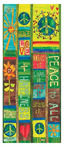 Studio M Garden Outdoor Decor Stephanie Burgess Art Pole (Peace and Love) (Pole Love)