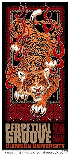 Perpetual Limited Edition (2007 Perpetual Groove - Clemson Silkscreen Concert Poster - Wood)