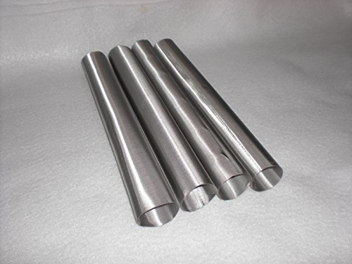 """4 pack of food grade Stainless Steel Mesh Rosin Terp Tubes 25 Micron (1"""" x 9"""" 25micron)"""