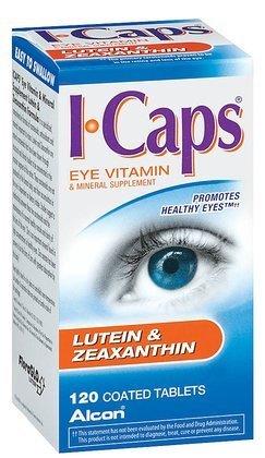 ICaps lutéine et zéaxanthine Formule, comprimés enrobés, 120 comprimés enrobés