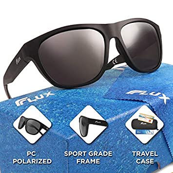 FLUX SOLEADO Injected PC Polarized Outdoor Sports Sunglasses with Non-Slip Grip and TR90 Nylon Frames for Outdoor Active Lifestyles