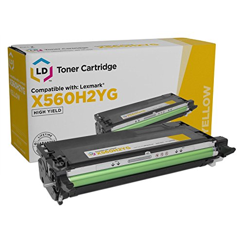 (LD Compatible Toner Cartridge Replacement for Lexmark X560H2YG High Yield X560 Series (Yellow))
