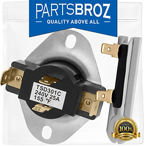 3392519 & 3387134 Thermal Fuse and Cycling Thermostat for Whirlpool & Kenmore Dryers by PartsBroz - Replaces Part Numbers 3388651, 694511, 306910 & 3387135