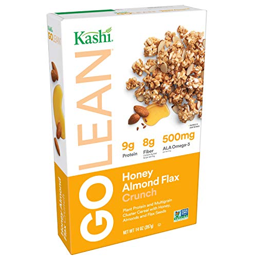 Kashi GOLEAN, Breakfast Cereal, Honey Almond Flax Crunch, Non-GMO Project Verified, 14 oz(Pack of 4) For Sale