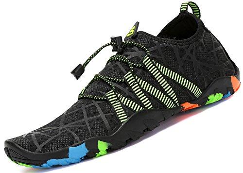 acuático Saguaro la para Skin la la Rayas de Negro Calcetines de de Nadada Descalzo de Resaca Aqua Playa Shoes Yoga vrrtfxY