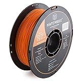 HATCHBOX 3D PLA-1KG1.75-ORN PLA 3D Printer Filament, Dimensional Accuracy +/- 0.05 mm, 1 kg Spool, 1.75 mm, Orange
