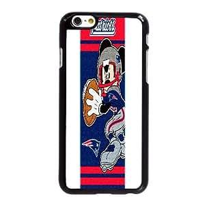 Mickey Mouse Nfl G0J59P2UJ funda iPhone 6 6S más la caja de 5,5 pufunda LGadas funda 312XOX negro