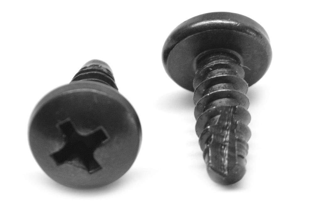 #6 x 3//8 Wood Screw Phillips Round Head Low Carbon Steel Zinc Plated Pk 100