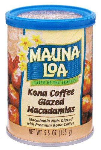 Kona Coffee Macadamia (Mauna Loa Kona Coffee Glazed Macadamia Nuts Can, 5.5 oz, 2 pk)