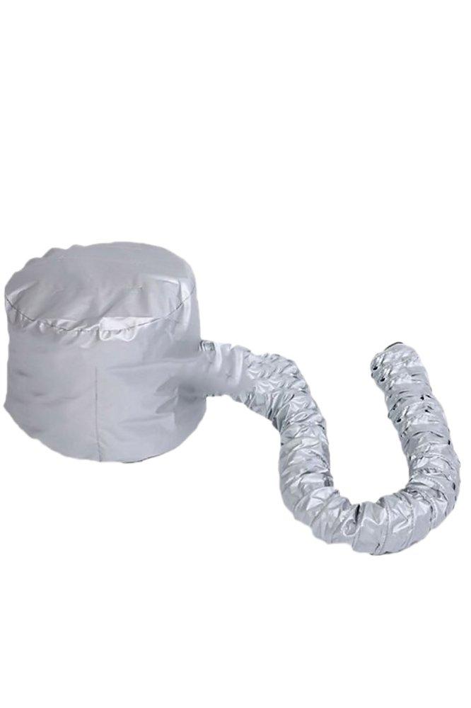 Casque Chauffant Cheveux, Vococal® Portable Coiffure Souple Bonnet Capuche Chapeau Cheveux Séchage Cap Séchoir Attachment Salon Barber Accueil Voyage Argent