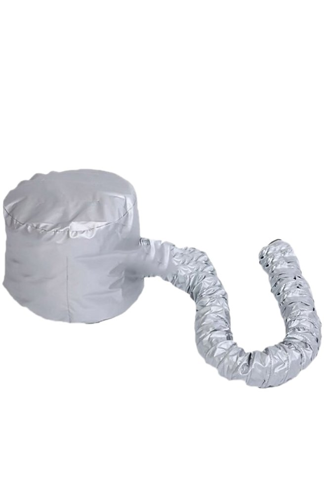 Portatile morbida parrucchieri Bonnet Hood Hat capelli asciugatura phon attacco per salone parrucchiere Home Viaggi Silver Vococal