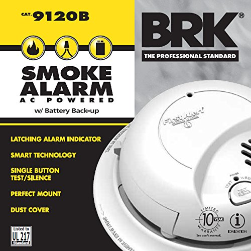 First Alert 9120B 120 Volt Hardwired Smoke Alarm With Battery Back Up 5 Pack by First Alert