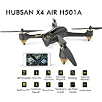 FLYPRO GPS FPV RC Drone Hubsan H501A X4 Air Pro Drone with Camera 1080P WiFi HD Live Video and GPS Return Home Quadcopter with Follow Me, Waypoint, Brushless Motors, Altitude Hold, Fly Safety Function, 20 Min Long Flying Time by FLYPRO