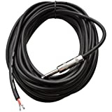 Seismic Audio QRW35 35-Feet Raw Wire to 1/4-Inch Speaker Cable, 16 Guage, PA/DJ/Home Audio