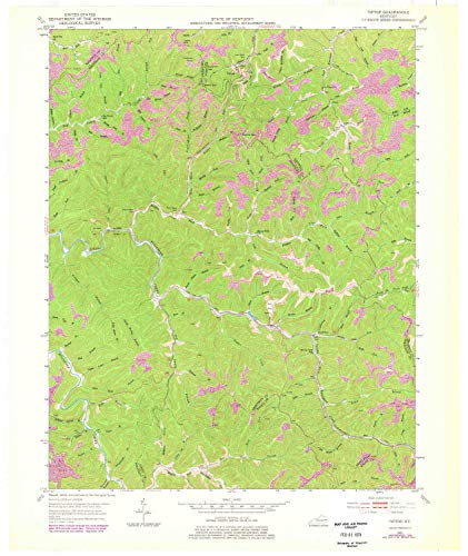 (YellowMaps Tiptop KY topo map, 1:24000 Scale, 7.5 X 7.5 Minute, Historical, 1951, Updated 1978, 27.4 x 23 in -)