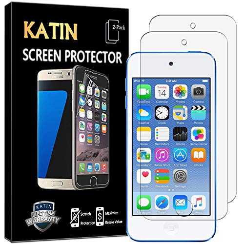 - KATIN iPod Touch Screen Protector - [2-Pack] HD Clear for Apple iPod Touch 5th / 6th Generation Screen Protector [NOT Glass] with Lifetime Replacement Warranty