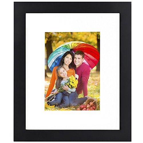 Icona Bay 8x10 Black Picture Frame - Made to Display 5x7 Pic