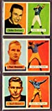 1957 Topps Football Rookie Reprint (3) Card Lot featuring**Hall of Famers** John Unitas, Paul Hornung, Bart Starr (Packers) (Colts)