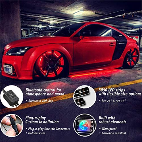 Car Neon Underglow Lights Goadrom Waterproof Rgb Led Strip