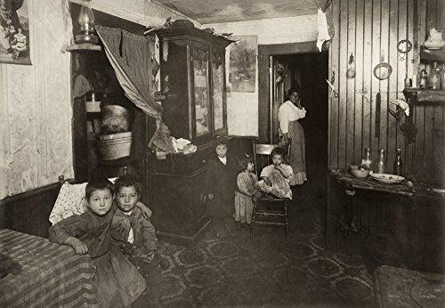 Hine Mill Housing 1912 Nan Italian American Mother And Five Children In Their Crowded Textile Mill WorkerS Home In Providence Rhode Island Photograph By Lewis Hine November 1912 Poster Print by (24 x
