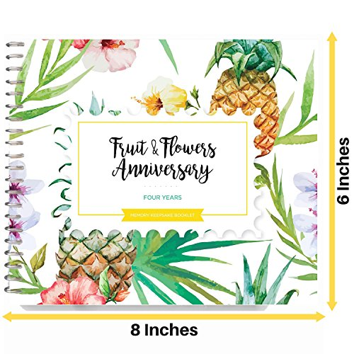 Fruit And Flowers Wedding Anniversary Gifts: 5-Second Journal For That 4th Wedding Anniversary Gift