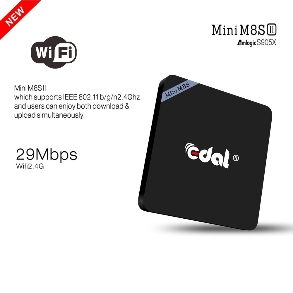 Edal Mini M8S II Smart Android 6 0 Amlogic S905X Quad Core VP9 UHD