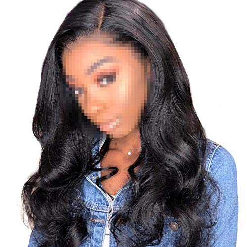250 density Lace Front Human Hair Wigs For Black Women Body Wave Remy Brazilian Lace Frontal Wig Short Bob Wig,26inches,150%]()