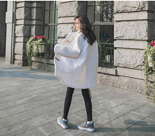 La Del Sección Femenino Marea Caliente Universidad Viento Invierno Pequeña Capa Mujeres Blanco De Estudiante Larga Dee Las Abrigo Lana qwpZZ1
