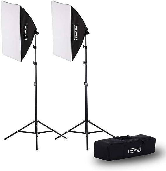 Fovitec 2-Light Fluorescent Studio Lighting Kit