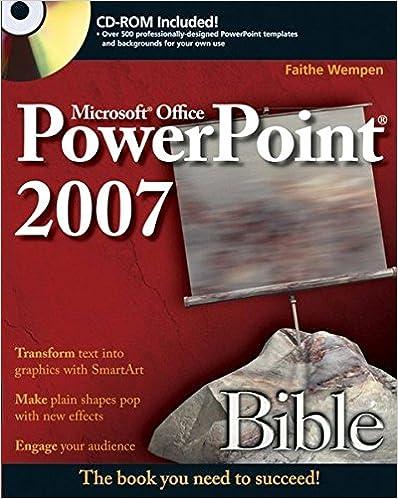Powerpoint 2007 Bible Faithe Wempen 9780470043684 Amazon