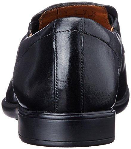 Clarks Leather Zapatillas casa Black Step Hombre Negro Cuero de Gosworth de qEFvEr
