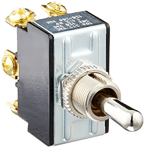 Morris 70110 Heavy Duty Toggle Switch, DPDT, On-Off-On, Screw Terminals, 2 Poles
