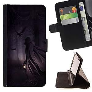 Momo Phone Case / Flip Funda de Cuero Case Cover - Hombre Linterna Bosque Noche Oscura - Sony Xperia Z3 Compact