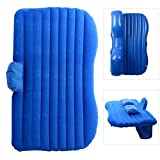 YaeTact Car Travel Inflatable Mattress Inflatable Bed Camping Universal with Two Air Pillows(Blue)