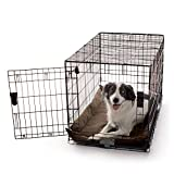 K&H Pet Products K-9 Ruff n' Tuff Crate Pad Large Chocolate (25'' x 37'') - 1260 Denier Rip-Stop Polyester for Pets That Need Extra Tough Fabric