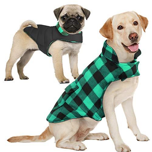 AOFITEE Reversible Dog Cold Weather Coat