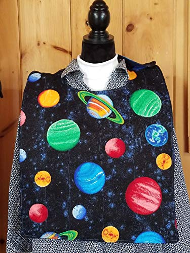 Solar System Adult Quilted Reversible Bibs - Special Needs - Clothing Protector