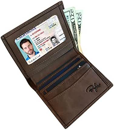 Slim Vertical Bifold With Sidekick RFID Wallet for Men, Full Grain Leather, Ultimate Identity Theft And Credit Card Protection, Sleek And Stylish Gift For Men