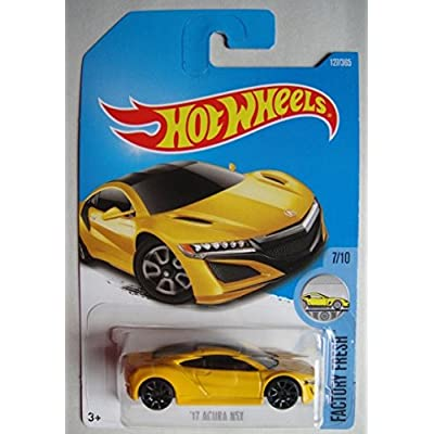 Hot Wheels 2020 Factory Fresh '17 Acura NSX 127/365, Yellow: Toys & Games