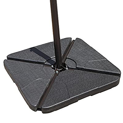 COBANA 4-Piece Cantilever Offset Patio Umbrella Base Stand