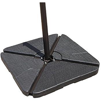 COBANA Offset Patio Umbrella Base Sand Filled Set Pack of 4 Square