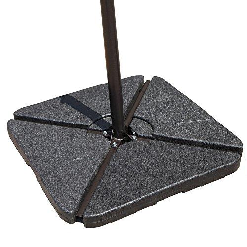(COBANA Offset Patio Umbrella Base Sand Filled Set Pack of 4 Square)