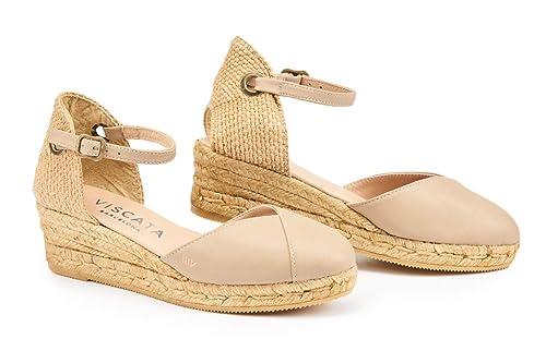 Viscata Barcelona PubolLeather - Alpargatas Mujer: Amazon.es: Zapatos y complementos